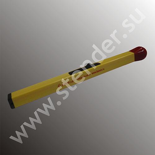 Фигурная зажигалка спичка с темпо-печатью логотипа