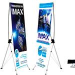 Мобильный стенд (складной) стойка баннер для внутреннего использования. легкий удобный и не дорогой вариант для ваших рекламных кампаний! размер от 1700*600мм.